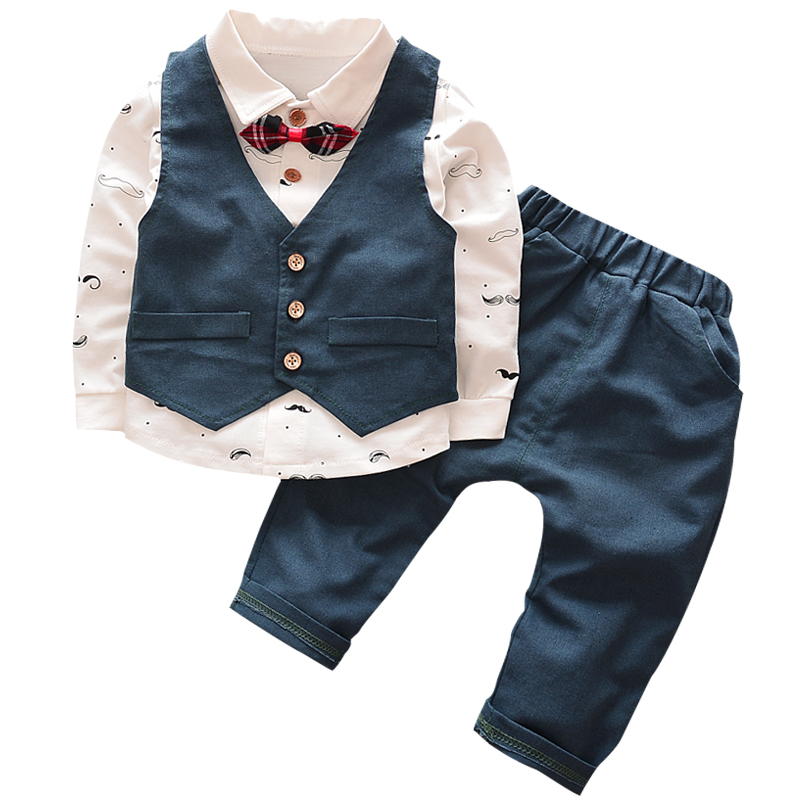 1-5yrsnew Baby Boy Girls Clothes Spring Kids Clothes Gentleman Toddler Suit 2pcs Boys Clothing Set Boy Clothes Children Clothing Fast Color