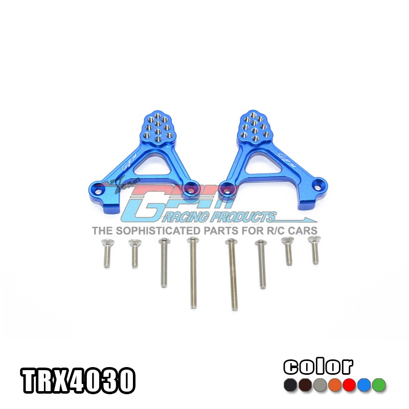 TRAXXAS TRX-4 TRX4 82056-4 Adjustable shock absorber plate rear damper mount aluminum alloy porous position - set TRX4030 traxxas trx 4 trx4 82056 4 alloy adapters front rear all can use hex 17mmsix angle 19mm long set trx4 17x19 2