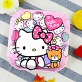 Kawaii Cartoon Hello Kitty Candy Snack Dessert Dish Kid Breakfast Tray Small Cake Plates Anti-shock Children Melamine Dinnerware