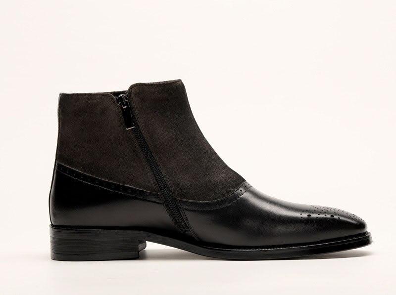 Chelsea Artesanal Tornozelo Genuíno Homens Dos 2019 Qyfcioufu Botas Bota Masculinos Sapatos Couro Do Escritório Partido Vestido Sólidos De marrom Preto Vintage Marca qExwS66z5