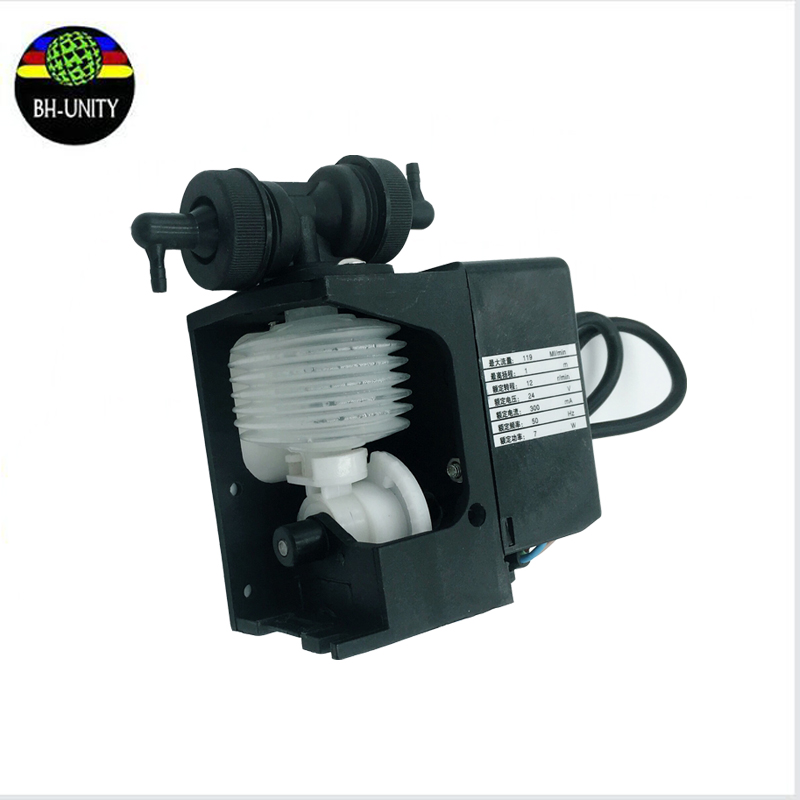 Factory price!inkjet printer myjet ink pump for myjet xaar 128 printer 24V 7W 110-120ml/min pumps 300 400ml min 24v dc jyy brand big ink pump for solvent printer with free shipping cost by dhl
