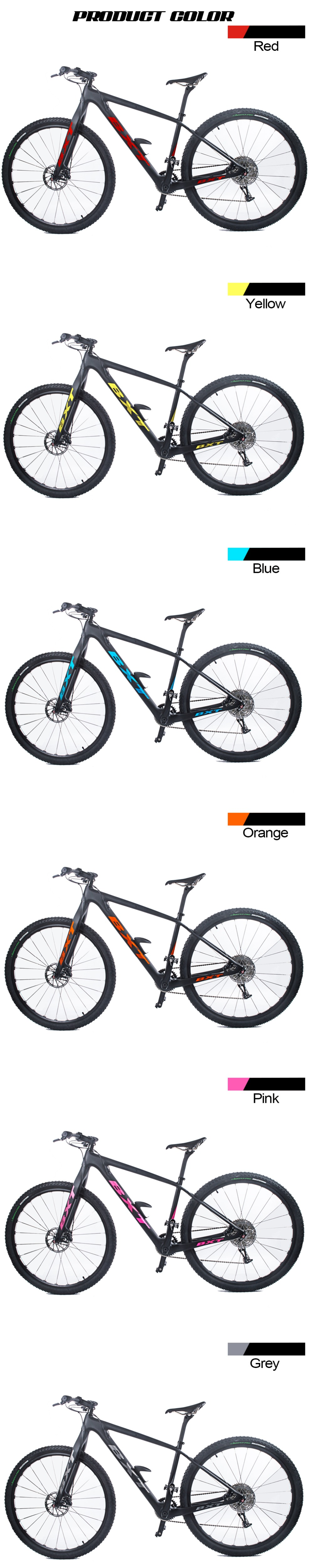 "HTB1j7zaXffsK1RjSszbq6AqBXXaK - BXT 29inch carbon fiber Mountain bike 1*11 Pace Double Disc Brake 29"" MTB Menbicycle 29er wheel S/M/L body full bike"