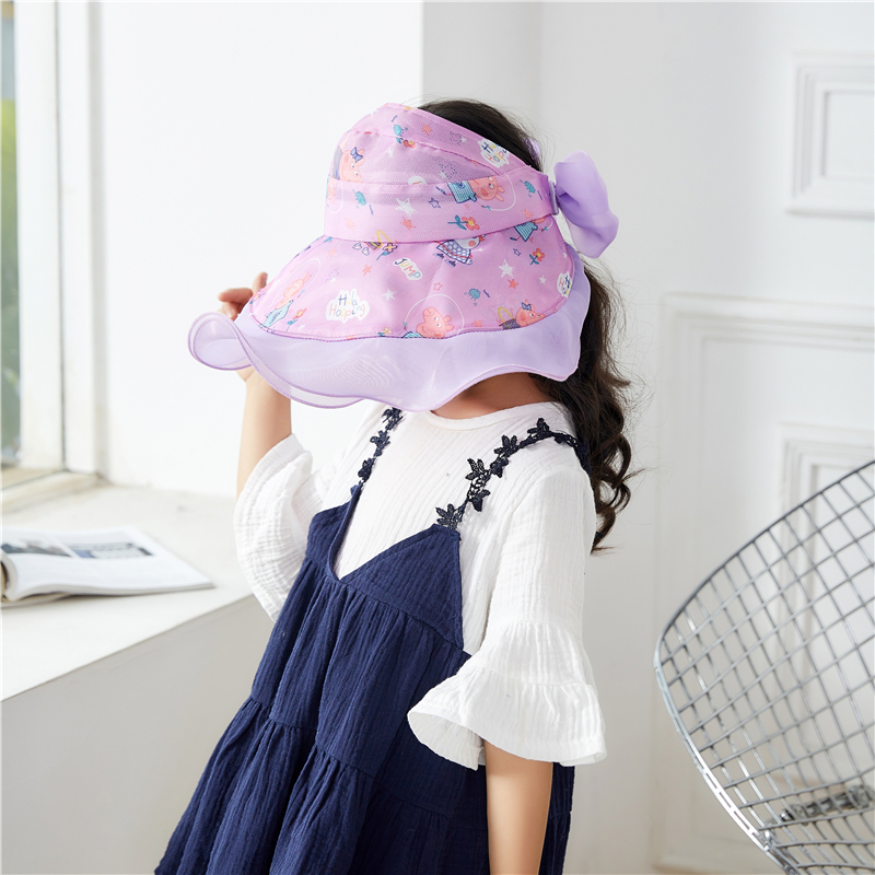 Children Girls Wide Brim Hat Kids Fedora Hats Casual Sun Hat Adjustable Summer Floral Bow in Hats Caps from Mother Kids