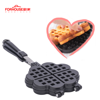 Waffle Bake Mold Kitchen Gas Non-Stick Waffle Maker Pan Mould Mold Press Plate Waffle Iron Baking Tools
