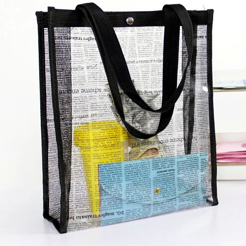 Clear Oversized Extra Large Tote PVC Plastic Shopper Shoulder Bags ...