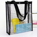 Clear Oversized Extra Large Tote PVC Plastic Shopper Shoulder Bags Transparent bag shopping bag women's handbags women book bag