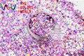 MAHR-286 Смешивания Лазерный Голографический Цвет Шестигранной и Круглой Формы Точки Блеск Блестки для ногтей DIY и украшения Праздника