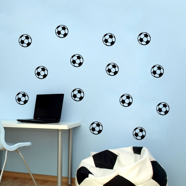 diy football soccer ball wall stickers home kids baby boys room