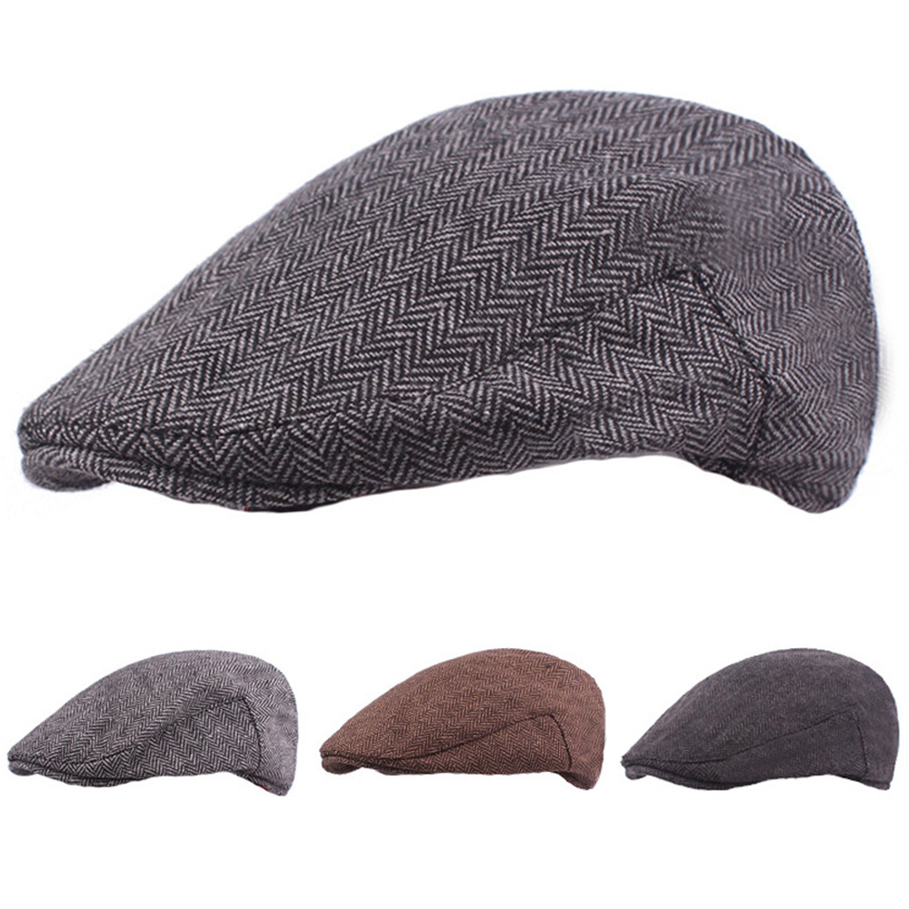 Men Classic Winter Warm Berets Driving Golf Cap Casual Cabbie Newsboy Hat NEW HATCS0241