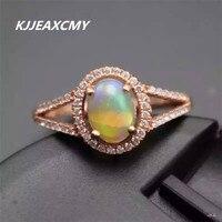 KJJEAXCMY אופל טבעי סיטונאי משובץ טבעת תכשיטי כסף סטרלינג S925