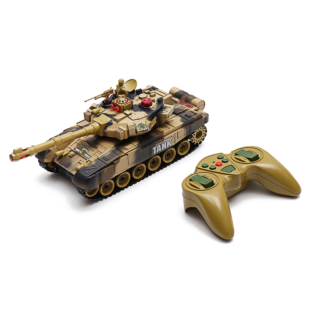 2.4G 10CH RC Tank With Light Sound Remote Control Toys
