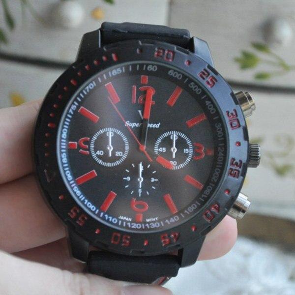 бесплатная доставка ] новинка мужские наручные кварцевые часы, черный циферблат, спортивный силиконовые часы для мужчин