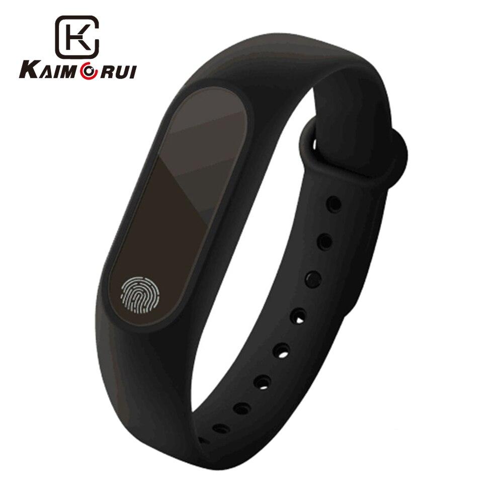 Kaimorui Fitness Bracelet M2 Activité Tracker USB De Charge IP67 Étanche Moniteur de Fréquence Cardiaque Sommeil Podomètre Intelligent Bracelet