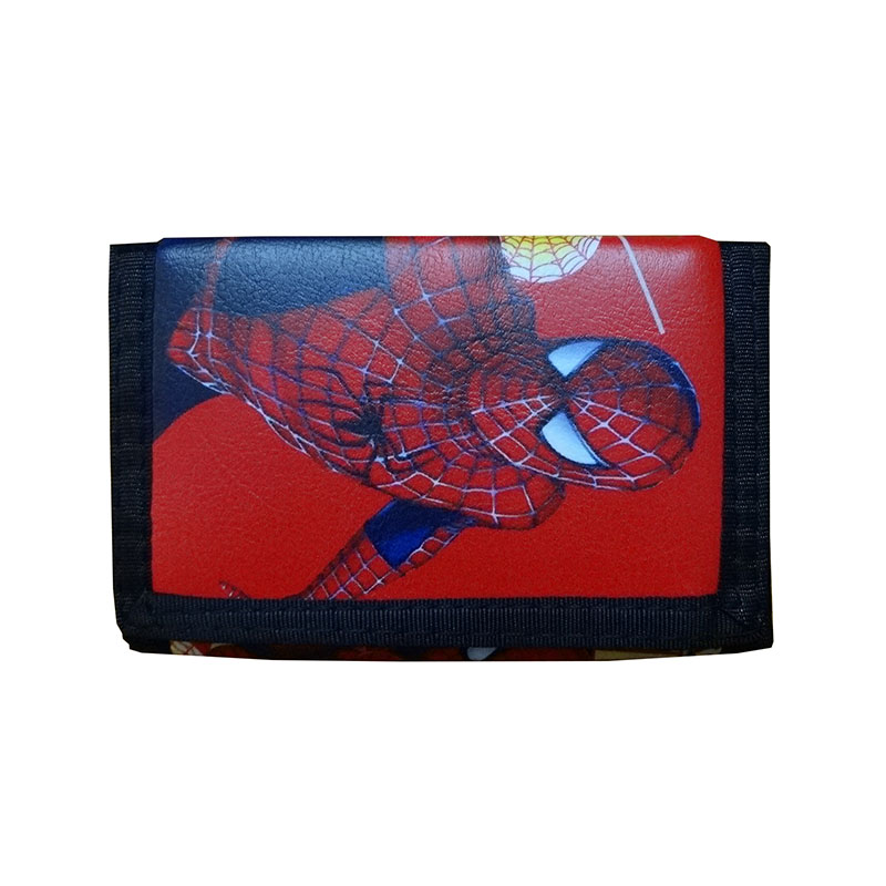 Anime Hero Spiderman Wallets Cartoon Style Captain America Superman Folded Coin Purse Gifts Kids Boy Girl Leather Short Wallet dc marvel comics wallets cartoon anime iron man spiderman captain america hulk creative gift purse kids folder short wallet