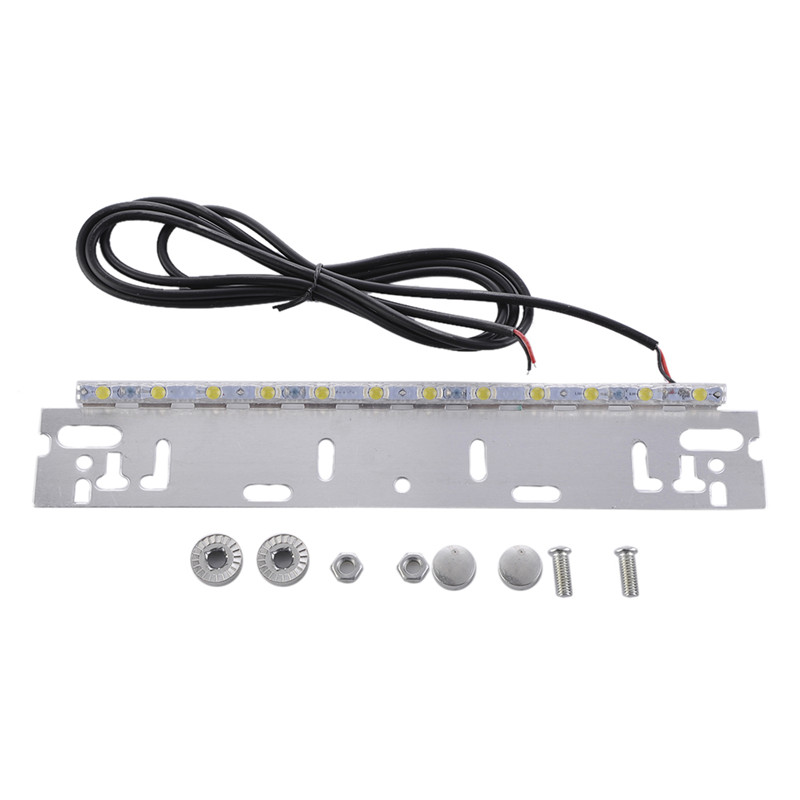 Xenon White 12-SMD Bolt-On License Plate LED Lamp Backup Reverse Lights Universal For Auto Car SUV Pickup Off road Truck auto car led number license plate lights lamp bulb car styling xenon white for mitsubishi asx vehicles tail rear lamp