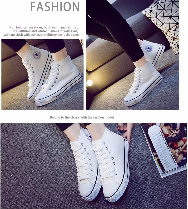 Plush Warm Women Canvas Shoes Winter Espadrilles 2017 Fashion Flat Heel High Top Women Casual Shoes Sapatilha Size 35-40 YD60 (16)