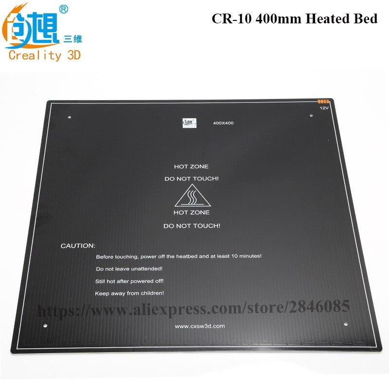 De Fourniture officielle 3D Imprimante Pièces noir MK3 foyer En Aluminium chauffée lit pour CR-10 Chaude-lit 12 v 310 * 310*3mm/410*410*3mm option
