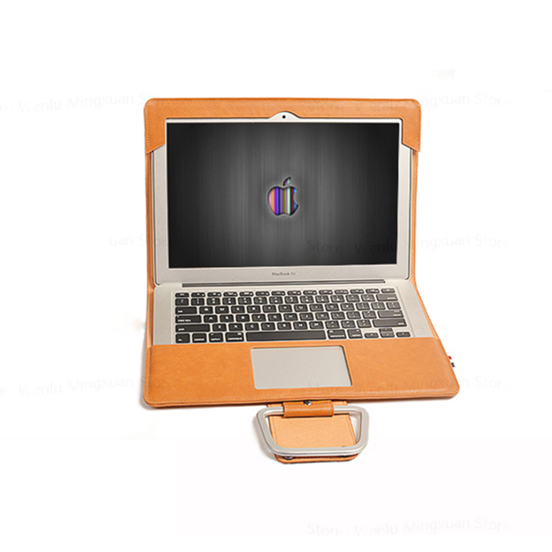 Laptop Cases For Macbook Air Pro Retina 11.6 12 13 13.3 15 15.4 Inch PU Leather Laptop Sleeve Tablet PC Protective Cover Gift
