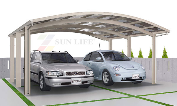 Sun Life Double M Carport Aluminum Car Parking Shade With Pc Sheet Roof Building Car Port Storage Shed Vehicle Van Garage Shade Tent Aluminum Deckaluminium Teflon Aliexpress