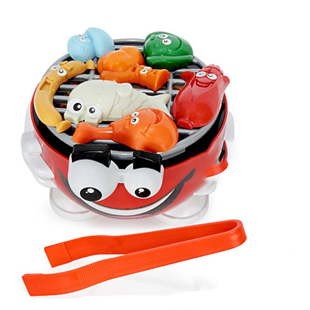 Cuisine jouets Barbecue partie jeu mettre de la nourriture sur le Barbecue Grill pour enfants enfants jeu jouets cadeaux Puzzle Table jeu de bureau