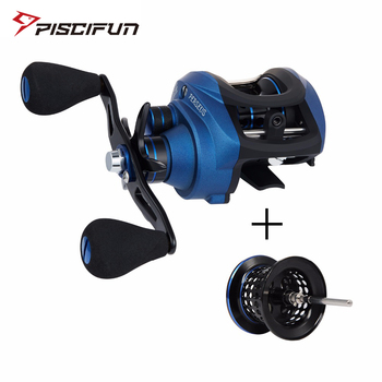 Piscifun Perseus Baitcasting Fishing Reel with Extra Spare Spool Magnetic brake+centrifugal brake 8.4KG Max Drag 6.3 Gear Ratio