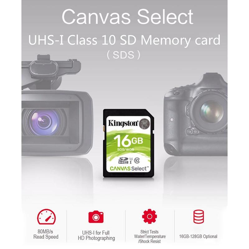 Kingston 128GB SD Card 16GB memory card Class10 64GB cartao de memoria SDHC SDXC USH-I HD video 32GB carte sd For Camera 256GB 1