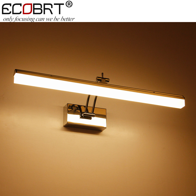 ECOBRT New LED Wall Lamps  Swing Arm12W 49cm long Bathroom Lighting over Mirrors Acrylic Decoration 110V / 220V AC ecobrt 7w led mirror wall lamps 40cm long modern furniture led picture lights rotated arm for home bathroom wall light