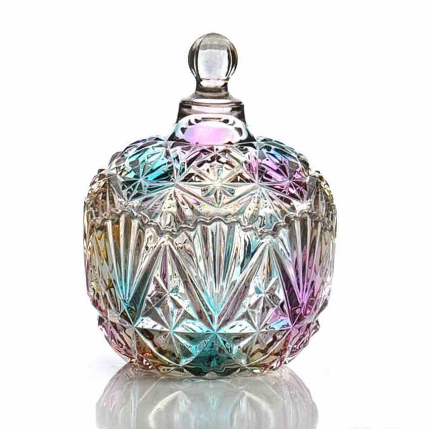 botellas de vidrio europeos decoracin artesana mini soporte postre jarrones de caramelos de colores a prueba