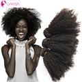 OMGA Brazilian Afro Kinky Curly Virgin Hair 3 Bundles Afro Kinky Curly Human Hair Weaves 1B 100g/pc Brazilian Hair Extensions 7a