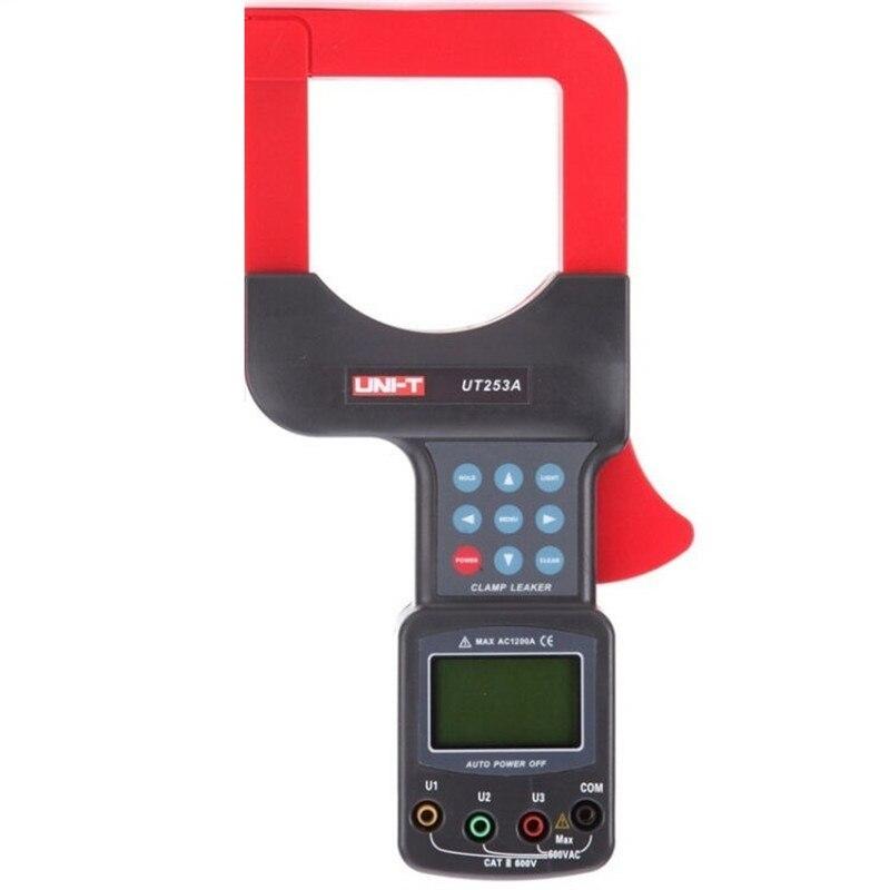 UNI-T UT253A Large Diameter Clamp Leakage Current Meter, 1200A Leak Clamp Meter Data Storage LCD Backlight RS-232 Data Transfer etcr6800 large diameter clamp leakage current meter leakage current tester clamp meter
