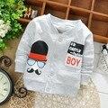 Primavera 100% de niños chaquetas de la rebeca del bebé embroma la capa ropa de los niños Outwear las capas