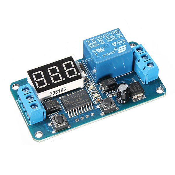 CNIM Hot DC 12V LED Digital Delay Switch Timer Switch Automatic Control Relay dc 12v led display digital delay timer control switch module plc automation new 828 promotion