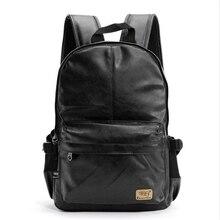 Marca de moda de La Vendimia Hombres de Negocios Mochilas de Cuero bolsa de La Escuela para adolescentes bolsas de hombro mochila de Viaje Mochila Portátil Informal