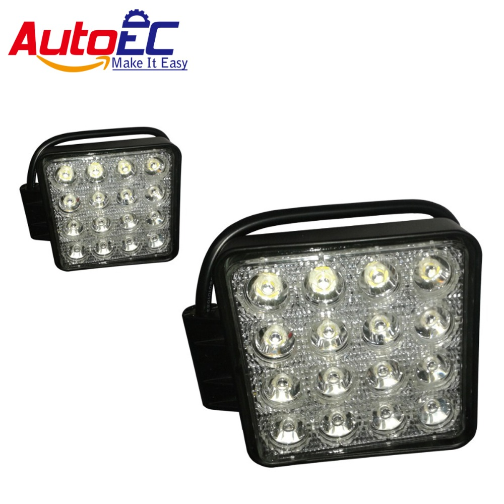 AutoEC  LED Working Light square led driving light Daytime Running Lights 16LED * 3W 48W  Waterproof High Quality  #LX09