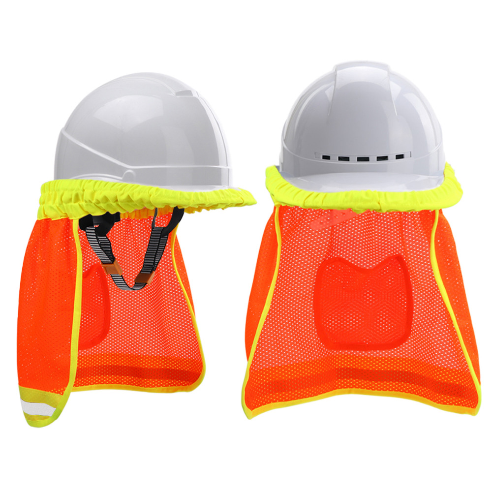 511105c9881b0 Sun Shade Safety Hard Hat Neck Shield Helmets HI VIS Reflective Stripe-in  Outdoor Tools from Sports   Entertainment on Aliexpress.com