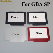 ChengHaoRan 50pcs Red Black Plastic Glass Panel For Nintend GameBoy Advance GBA SP System Replacement Screen Lens reapir parts