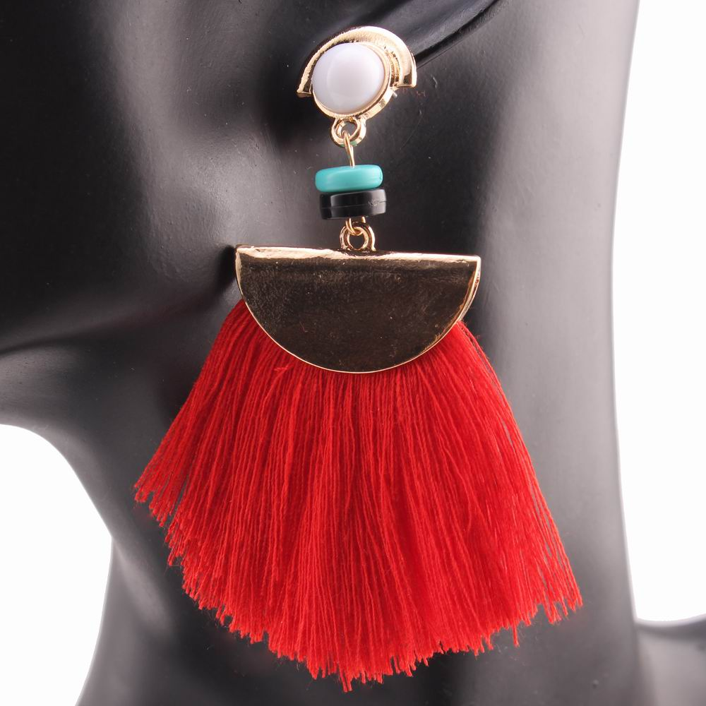 Red Acrylic Chandelier: Acrylic Bead Drop Dangle Chandelier Red Color Tassel