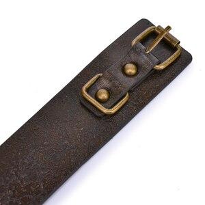 Image 5 - Коричневый винтажный ошейник из натуральной кожи для БДСМ с поводком ошейник для связывания раб БДСМ фетиш секс игрушки для женщин пар игрушки