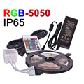 RGB LED Strip 5M 300Leds 5050 SMD 12V 5A Power Adapter Flexible Light Led Tape IR Remote Home Decoration Waterproof IP65