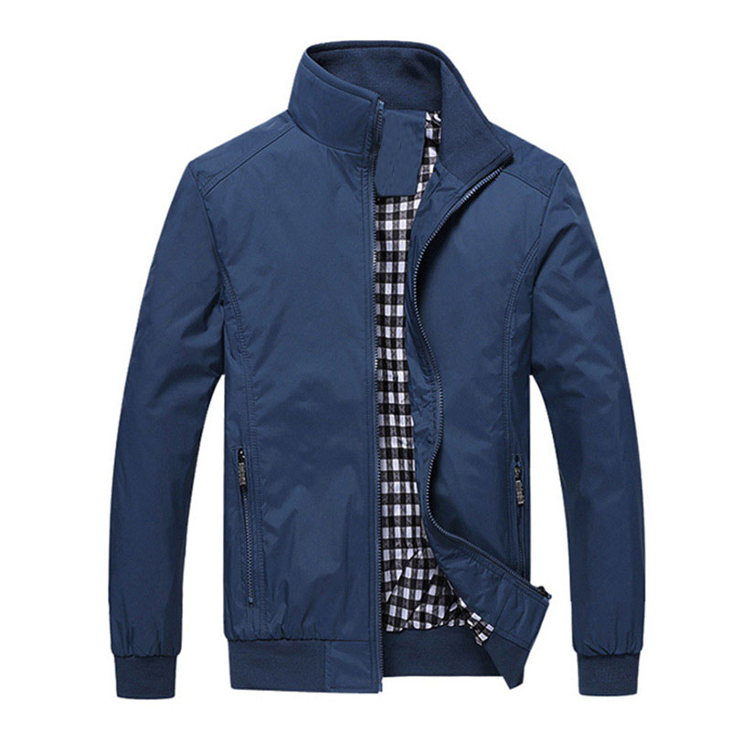 New 2018 Jacket Men Fashion Casual Loose  Mens Jacket Sportswear Bomber Jacket Mens jackets and Coats Plus Size M- 5XL(China)
