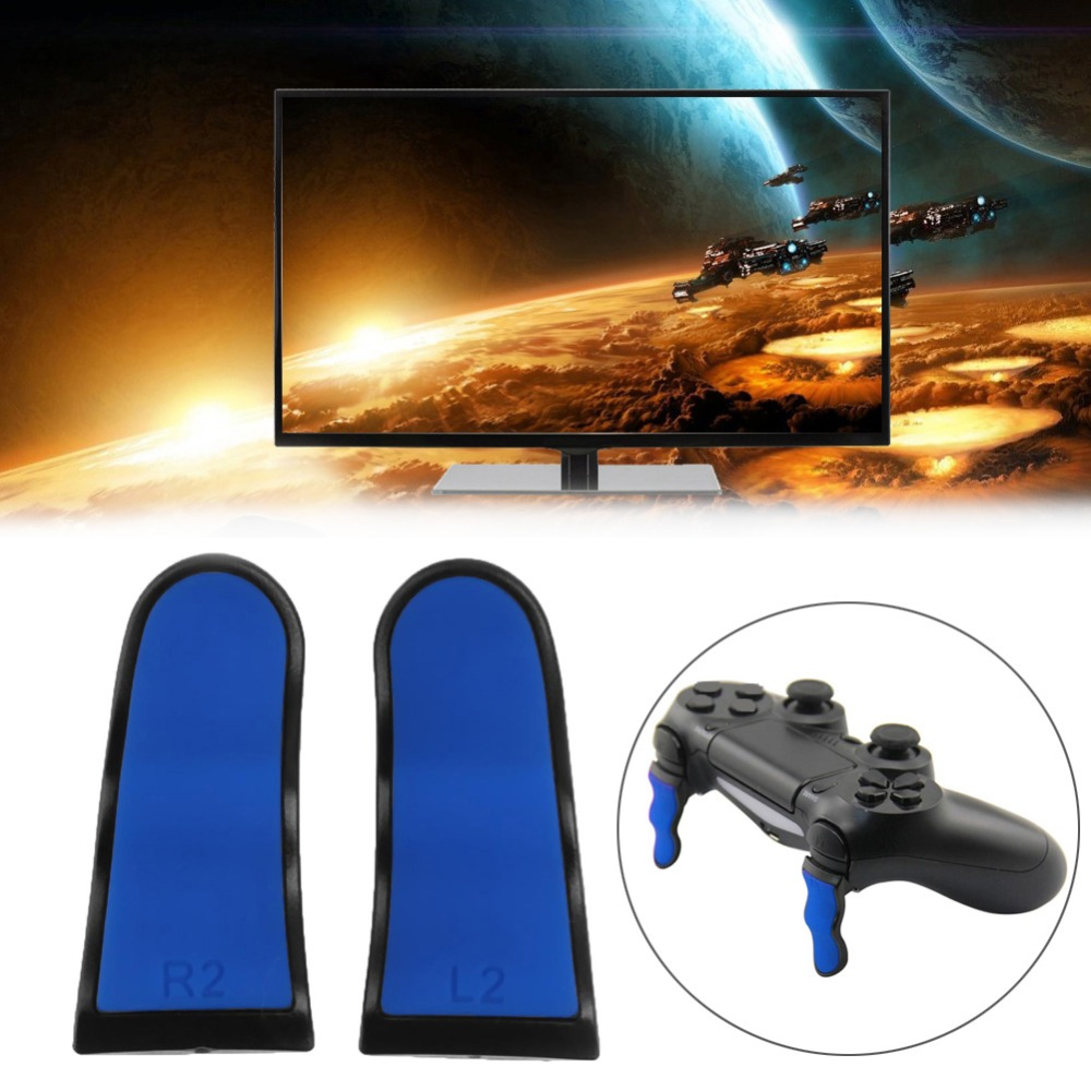 2pcs Replacement Thumbstick Grip L2 R2 Extension Buttons Game Aaccessories for Sony PS4 Wireless Controller Gamepad