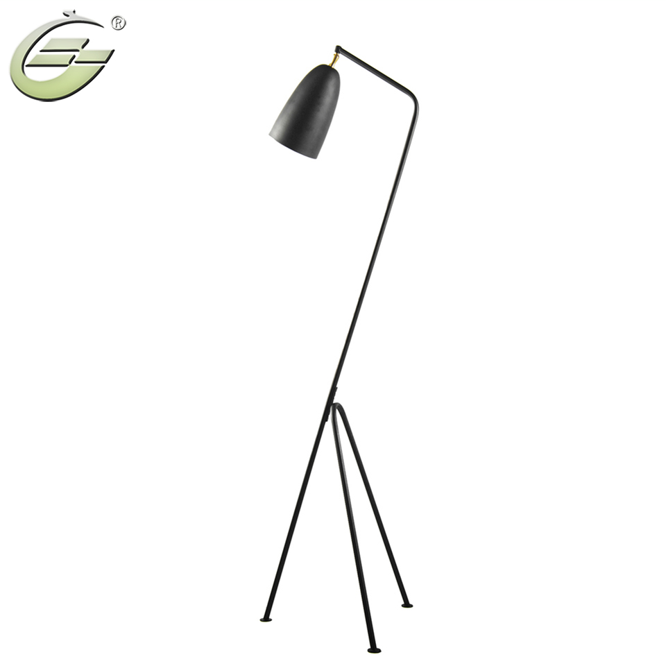 Modern Minimalist Industrial Floor Lamp Standing Lamps For Living Room Reading Lighting Loft Iron Triangle