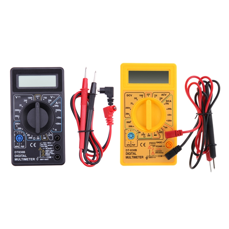Mult/ímetro//comprobador de tensi/ón digital con pantalla LCD DT830B