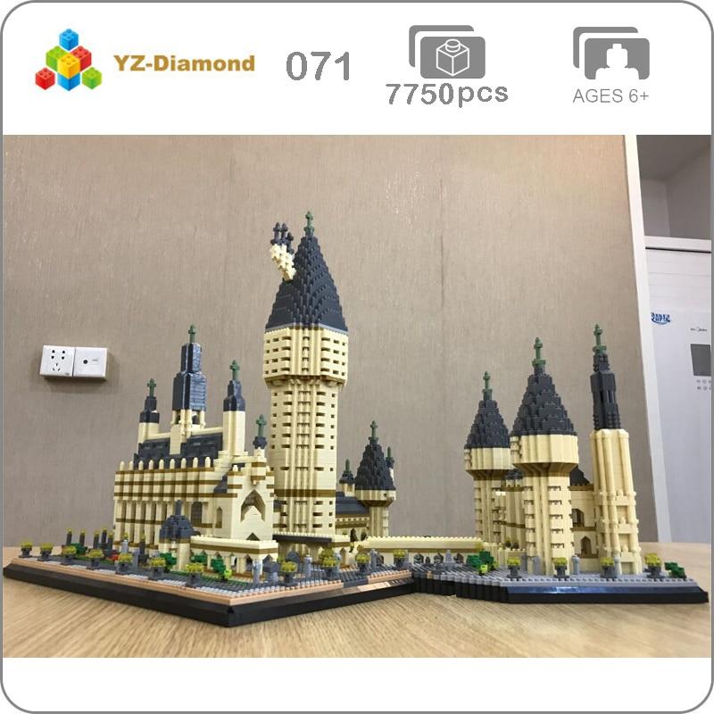 YZ 071 World Famous Architecture Medieval Castle College 3D Model DIY 7750pcs Mini Building Diamond Small Blocks Toy no Box