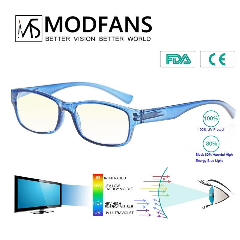 Men Computer Glasses Working Women Anti Blue Light Blocking Glasses Filter Reduces Digital Eye Strain Clear Improve Comfort