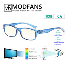 Men Computer Glasses Working Women Anti Blue Light Blocking Filter Reduces Digital Eye Strain Clear Improve Comfort