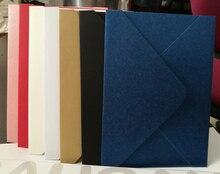 Лучшие 5 шт./лот 18.3*13 см Винтаж конверт 250 г жемчуг Конверты почтовые бумажные высоком Класс Приглашения Конверты подарок канцелярских товаров