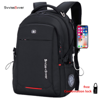 svvisssvver male Multifunction USB charging fashion business casual tourist anti theft waterproof 15.6 inch Laptop men backpack