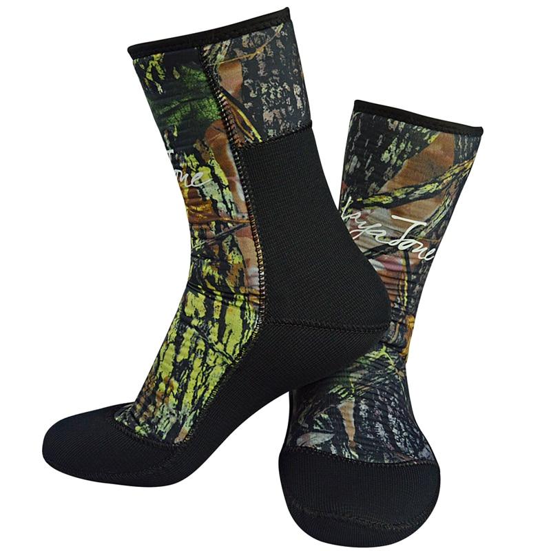 Layatone traje calcetines camuflaje 7mm de buceo neopreno calcetines surf zapatos para la caza submarina pesca submarina piscina caliente