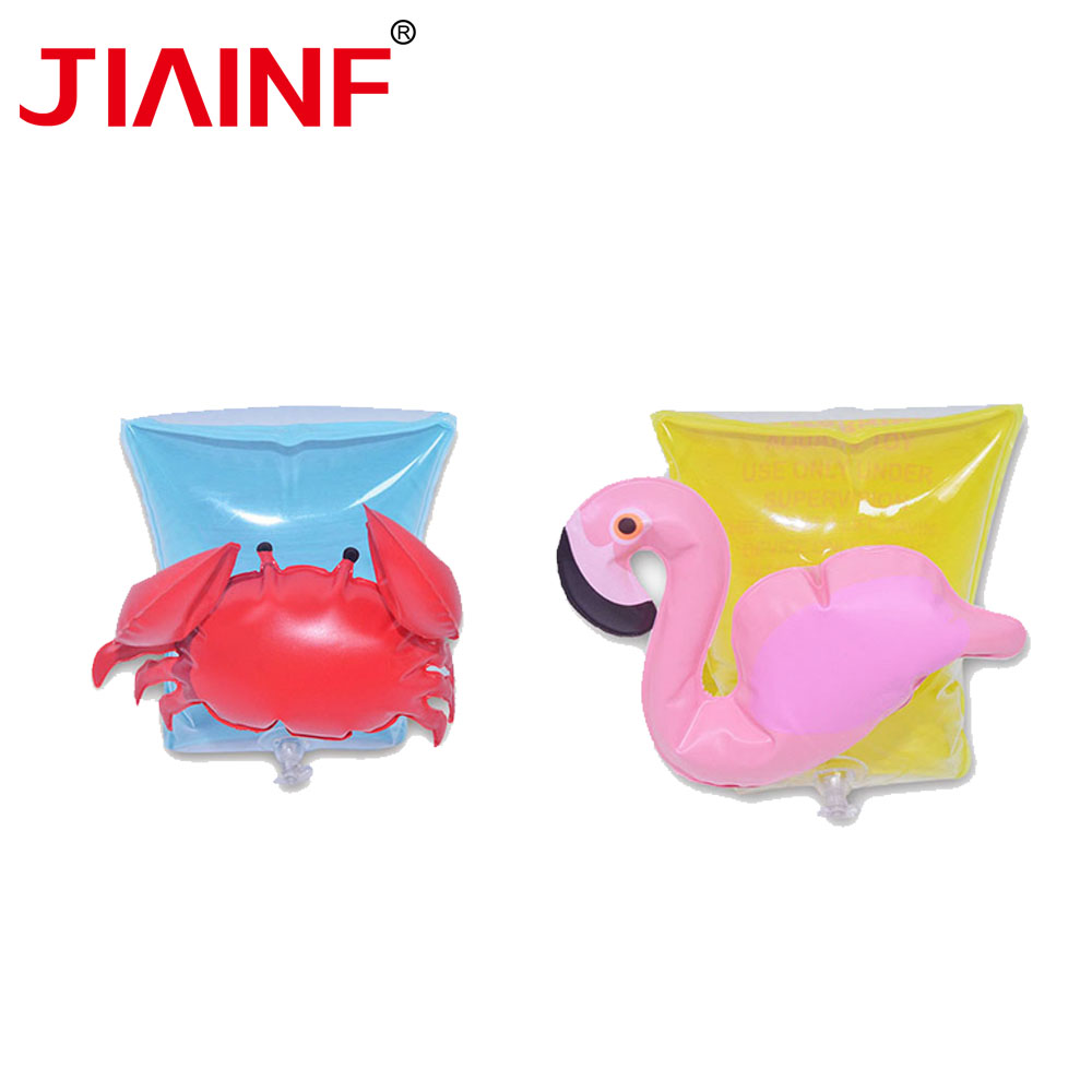 JIAINF Inflatable Kids Arm Ring Swim For Children Crab Flamingo Float Party Toys Cute Pool Float For Kids 10pcs/5 Pairs